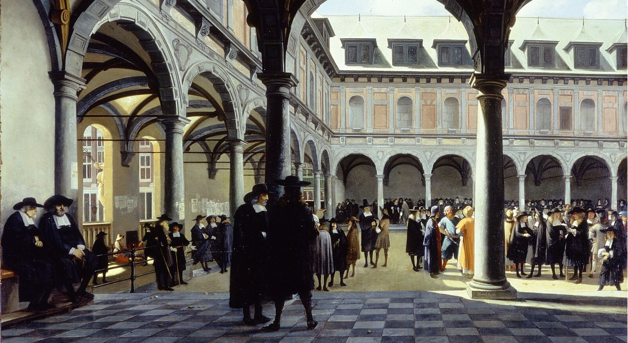 Courtyard of the Amsterdam Stock Exchange
